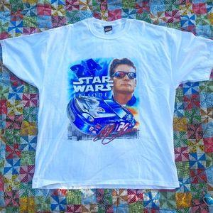 VTG Jeff Gordon Star Wars Nascar T-shirt XL